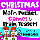 Christmas Math Games Puzzles and Brain Teasers