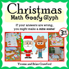 Christmas Math Goofy Glyph (3rd Grade Common Core)