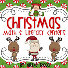 Christmas Math & Literacy Centers Pack