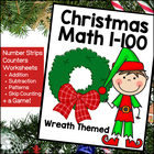 Christmas Math - Numbers 1-100  (Holiday Wreath Theme!)