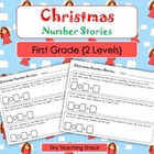Christmas Math Stories- Word Problems for Kindergarten and