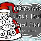 Christmas Math Task Card Fun!