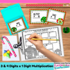 Christmas Math Task Cards {Multiplication of three and fou