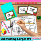 Christmas Math Task Cards {Subtracting with Larger Numbers}
