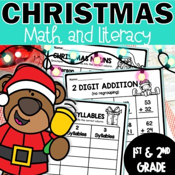 Christmas Math and Literacy Printables (77) Activities Cut & Paste  Worksheets