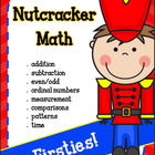 Christmas Math for 1st Grade with a Nutcracker theme