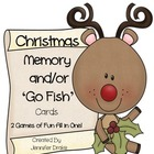 Christmas Memory &amp; Go-Fish Cards!  ~2 Games In One!~ PreK-1 Fun!