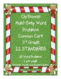 Christmas Multi-Step Word Problems - 3.OA.8 - CC 3rd Grade Math