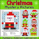 Christmas Mystery Pictures Math Worksheets