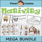 Christmas Nativity Math / Literacy Preschool Pack