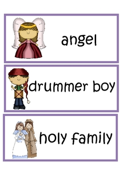 Christmas Nativity Vocabulary Word Wall