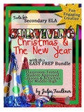 Christmas & New Year Lessons for Secondary ELA Easy Prep B
