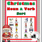 Christmas Noun and Verb Sorting Activity