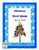 Christmas Noun or Verb Scoot Quiz Cards