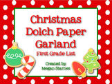 Christmas Paper Garland with First Grade Dolch Words