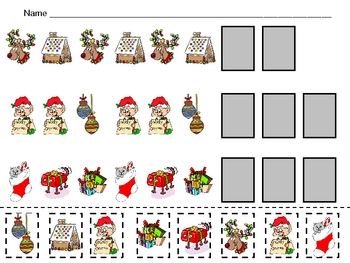 Christmas Patterns Independent Practice for Kindergarten