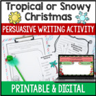 Christmas Persuasive Writing Activity {Freebie}