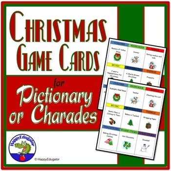 Christmas Pictionary and Charades Game