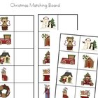 Christmas Picture Matching Board - Preschool Kindergarten