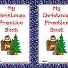 Christmas Practice Books for Kindergarten- Letters, Number