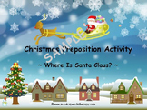 Christmas Prepositions Activity