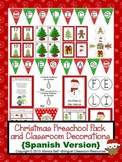 Christmas Preschool Pack and Classroom Decorations {Spanis