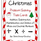 Christmas Problem Solving Task Cards (Whole and Decimal Numbers))