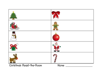 Christmas Read-the-Room Literacy Activity