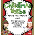 Christmas Regular & Irregular Verbs Printables with CCSS!!