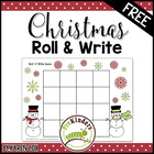 Christmas Roll &#039;n&#039; Write Game