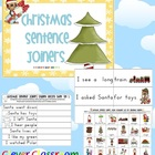 Christmas Sentence Joiners with Record Sheets Center Activ