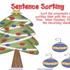 Christmas Sentence Sorting Center and a Persuasive Writing