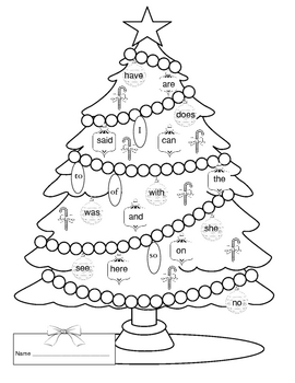 Christmas Sight Word Activity