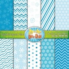 Christmas Snowflakes Digital Scrapbook Pack (10 Pages)
