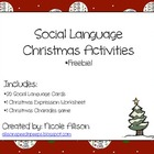 Christmas Social Language Packet *Freebie*