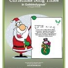 Christmas Song Titles in Gobbledygook