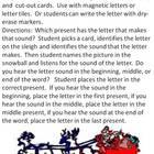 Christmas Sound Cards for Beginning, Middle, and Ending Sounds