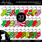 Christmas Stockings 1 {Graphics for Commercial Use}