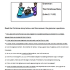 Christmas Story Grammar Worksheet and Answer Key