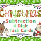 Christmas Subtraction (4 Digits) Task Cards