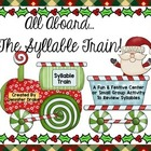 Christmas Syllable Train!  Great Center, Game, Review & As