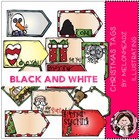 Christmas Tags bundle by Melonheadz black and white