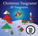 Christmas / Winter Holiday Tangram Set - 29 Different Tang