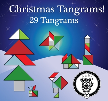 Christmas / Winter Holiday Tangram Set - 29 Different Tangrams! - {ZisforZebra}