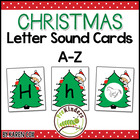Christmas Theme Letter Sound Matching Cards A-Z
