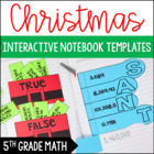 Christmas Themed Interactive Notebook Templates: 5th Grade Math