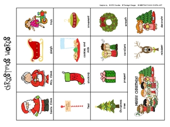 Christmas Themed Read the Room Activity