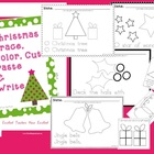 Christmas Trace Color Cut Paste & Write Worksheets