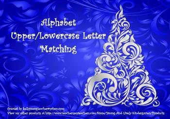 Christmas Tree Alphabet Upper/Lowercase Matching