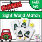 Christmas Tree Sight Word Match Dolch Second Grade List